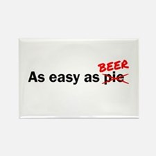 As easy as Beer Rectangle Magnet (100 pack)