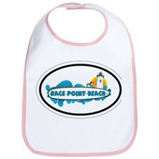Race Point Beach MA - Oval Design. Bib