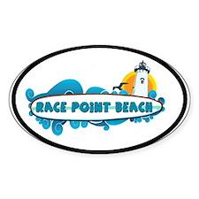 Race Point Beach MA - Oval Design. Decal