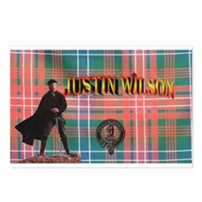 Justin Tartan-1 Postcards (Package of 8)