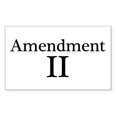 Second Amendment II Sticker (Rectangle)
