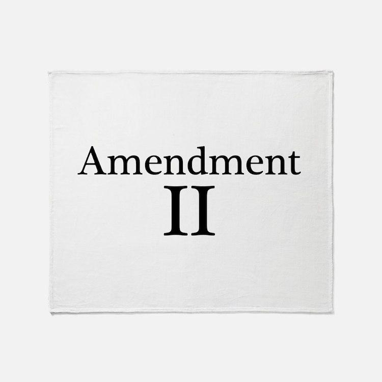 Second Amendment II Throw Blanket