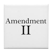Second Amendment II Tile Coaster