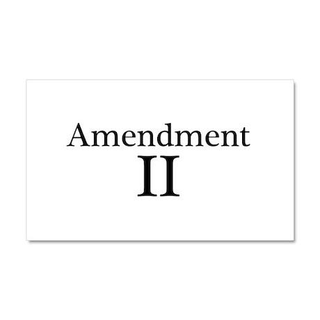 Second Amendment II Car Magnet 20 x 12