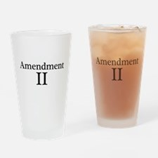 Second Amendment II Drinking Glass