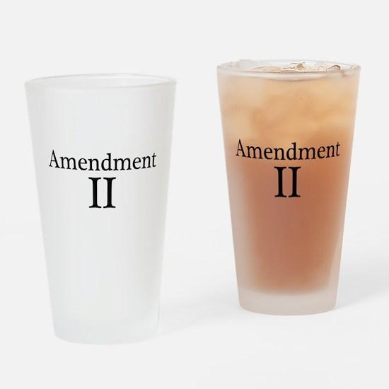 Second Amendment II Drinking Glass