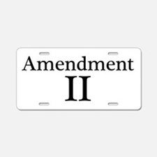 Second Amendment II Aluminum License Plate