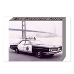 San Francisco Police Car Postcards (Package of 8)