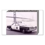 San Francisco Police Car Sticker (Rectangle 50 pk)