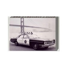 San Francisco Police Car Rectangle Magnet