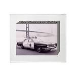 San Francisco Police Car Throw Blanket