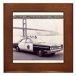 San Francisco Police Car Framed Tile