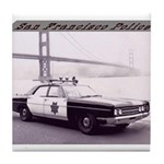 San Francisco Police Car Tile Coaster