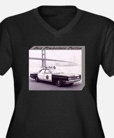 San Francisco Police Car Women's Plus Size V-Neck