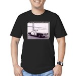 San Francisco Police Car Men's Fitted T-Shirt (dar