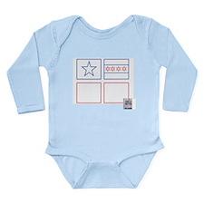 Flags Long Sleeve Infant Bodysuit