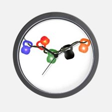 Kettle Bell Christmas Lights Wall Clock