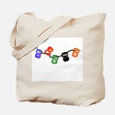 Kettle Bell Christmas Lights Tote Bag