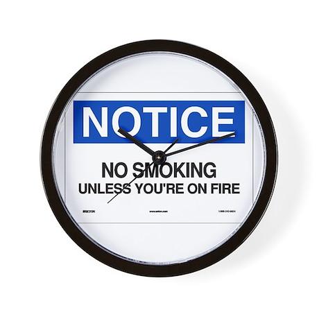 No Smoking Notice Wall Clock