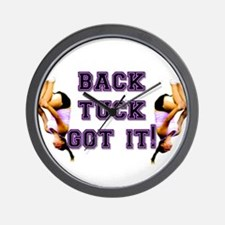 Back Tuck Got it Tumbling Wall Clock