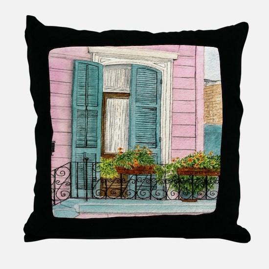 New Orleans Door Throw Pillow