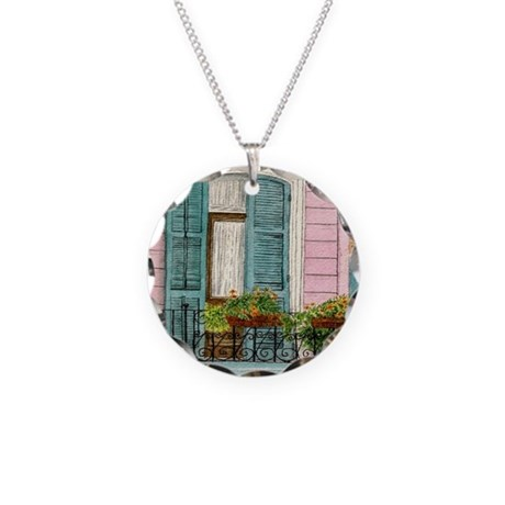 New Orleans Door Necklace Circle Charm