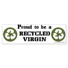 Recycled Virgin (Guys') Bumper Bumper Sticker