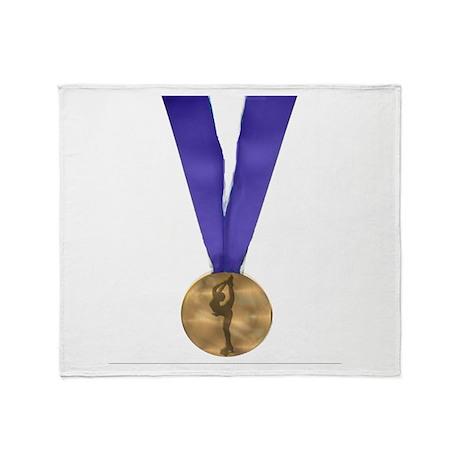 Skater Gold Medal Throw Blanket