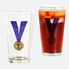 Skater Gold Medal Drinking Glass