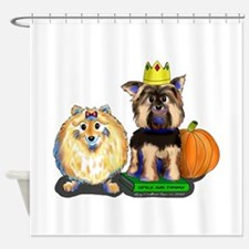 Pomeranian and Yorkie Shower Curtain
