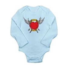 Jesus Heart Tattoo Long Sleeve Infant Bodysuit