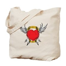 Jesus Heart Tattoo Tote Bag
