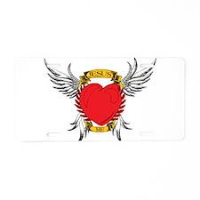 Jesus Heart Tattoo Aluminum License Plate