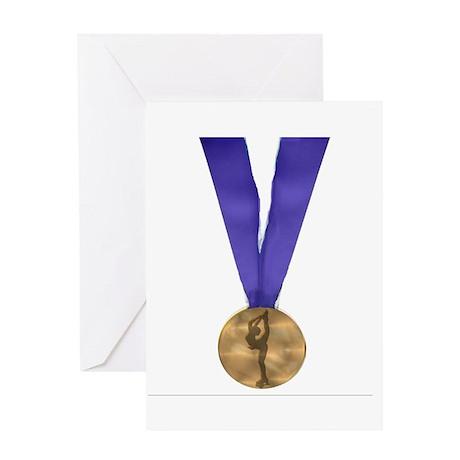 Skater Gold Medal Greeting Card