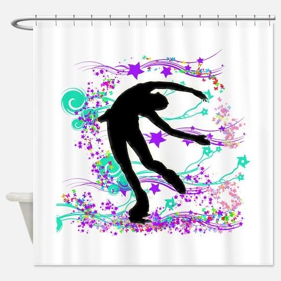 Figure Skater Spin Shower Curtain