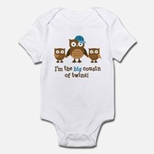 Big Cousin of Twins - Mod Owl Infant Bodysuit