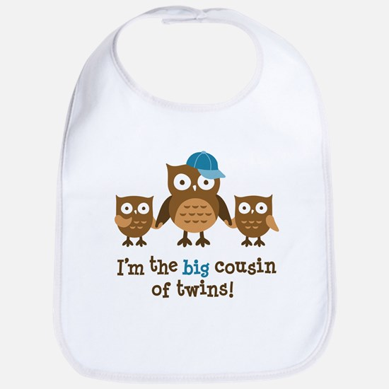 Big Cousin of Twins - Mod Owl Bib
