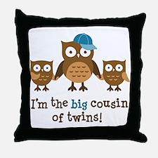 Big Cousin of Twins - Mod Owl Throw Pillow