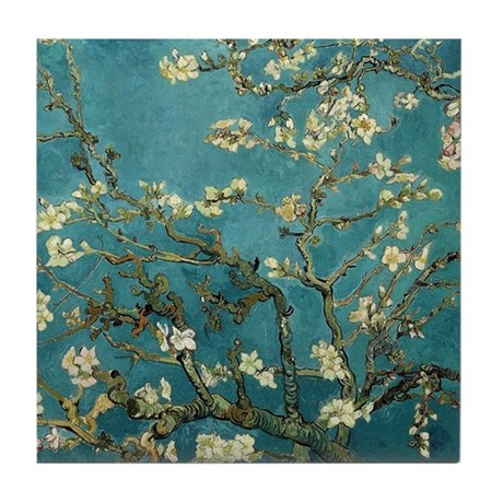 Van Gogh Almond Branches In Bloom Tile Coaster