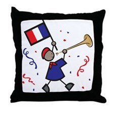 France Holiday Throw Pillow
