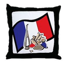 France Bastille Day Throw Pillow