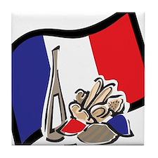 France Bastille Day Tile Coaster