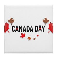Canada Day Tile Coaster