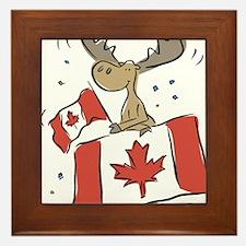 Canada Day Moose Framed Tile