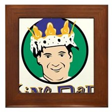 King Dad Framed Tile