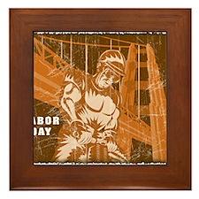 Vintage Labor Day Framed Tile