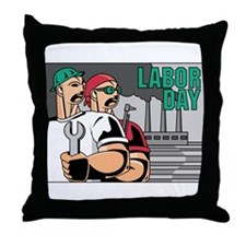 Labor Day Throw Pillow