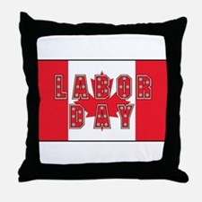 Canada Labor Day Throw Pillow