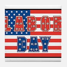 USA Labor Day Tile Coaster