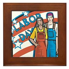 Labor Day Framed Tile